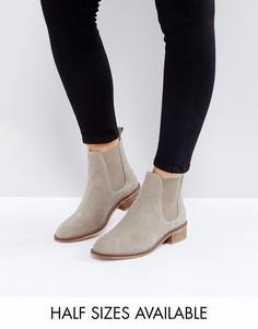 Замшевые ботинки челси ASOS ABSOLUTE - Бежевый
