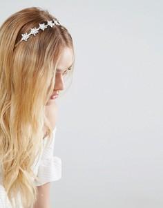 Повязка на голову с отделкой камнями New Look - Белый