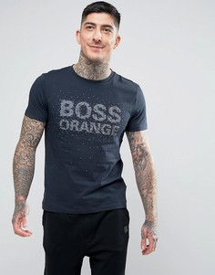 Темно-синяя футболка с логотипом BOSS Orange by Hugo Boss Turbulence 1 - Темно-синий