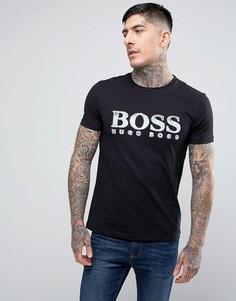 2 черные футболки с большим логотипом BOSS Orange by Hugo Boss Turbulence - Черный