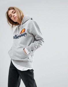 Худи бойфренда с логотипом на груди Ellesse - Серый