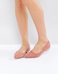 Туфли на плоской подошве с острым носом RAID Agatha - Розовый