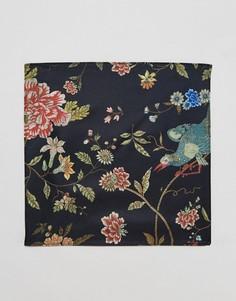 Платок для нагрудного кармана с цветочным принтом ASOS - Черный
