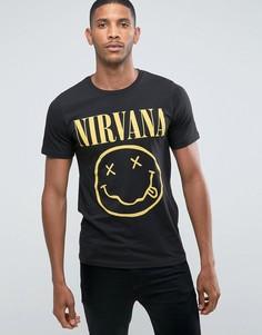 Футболка с принтом Nirvana Jack & Jones Originals - Черный