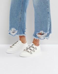 Кроссовки в стиле вестерн с пряжкой ASOS DESERT ISLAND - Белый