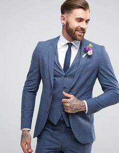 Пиджак скинни в клетку Jack & Jones Premium - Синий
