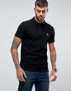 Черная облегающая футболка-поло PS by Paul Smith - Черный
