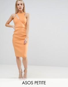 Асимметричное платье ASOS PETITE - Розовый