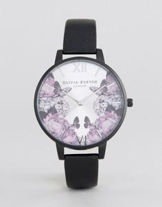 Часы с кожаным черным ремешком Olivia Burton After Dark - Черный
