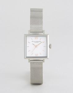 Часы с квадратным циферблатом Olivia Burton - Серебряный