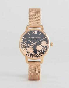 Часы цвета розового золота с сетчатым ремешком Olivia Burton - Золотой