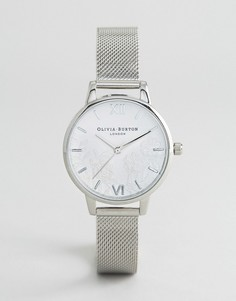 Часы с серебристым сетчатым ремешком Olivia Burton - Серебряный