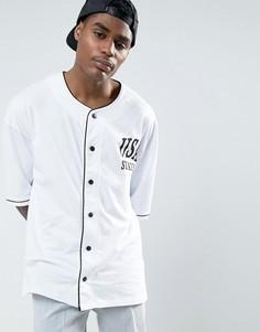 Oversize-футболка с ворсистой отделкой ASOS - Белый