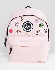 Розовый рюкзак с нашивками Hype - Розовый