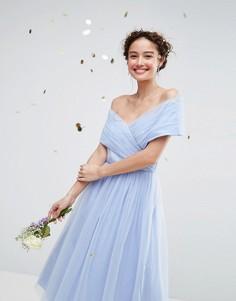 Тюлевое платье миди ASOS WEDDING - Синий