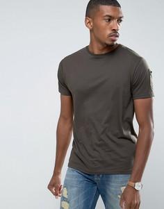 Длинная футболка с молнией Brave Soul - Зеленый