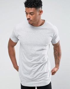 Длинная футболка Brave Soul - Серый