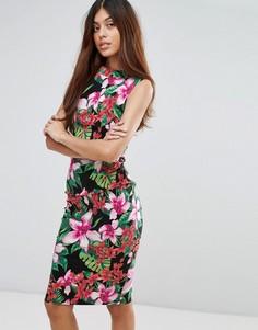 Платье миди с тропическим принтом Vesper - Мульти