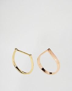 2 узких кольца ограниченной серии с геометрическими дизайнами - Мульти Asos
