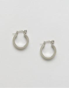 Серьги-кольца ограниченной серии - Серебряный Asos