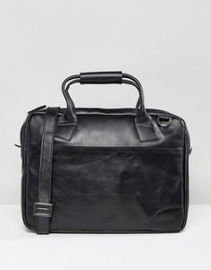 Кожаная сумка для ноутбука Royal Republiq Nano - Черный