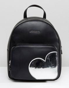 Рюкзак с сердечком Love Moschino - Черный
