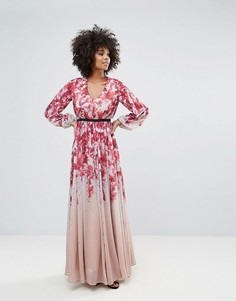 Платье с длинными рукавами Y.A.S - Мульти