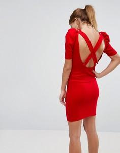 Облегающее платье мини в рубчик ASOS - Красный