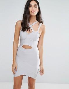 Бандажное платье Love & Other Things - Серый