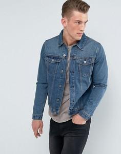 Выбеленная джинсовая куртка New Look - Синий