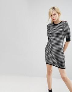 Трикотажное платье в клетку Love Moschino - Черный