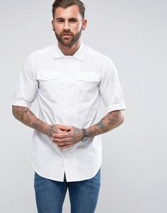 Белая рубашка прямого кроя с коротким рукавом G-Star Landoh - Белый