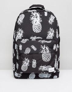 Рюкзак с ананасами Spiral - Черный