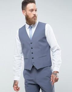 Эластичный облегающий жилет Selected Homme - Синий