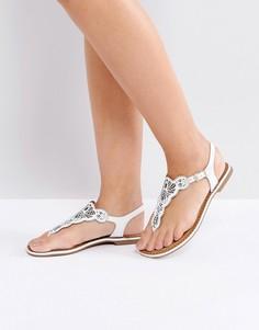Кожаные сандалии с вырезанным лазером узором Dune LILL - Белый