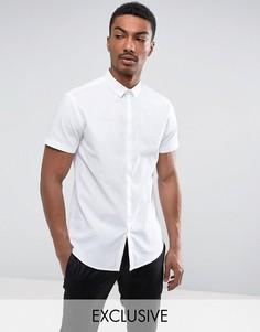 Рубашка узкого кроя с короткими рукавами Noak - Белый