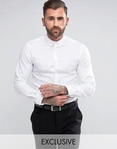 Приталенная рубашка с воротником на пуговицах Heart & Dagger - Белый