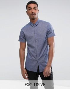 Рубашка узкого кроя с короткими рукавами Noak - Темно-синий