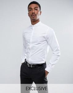 Приталенная рубашка с воротником на пуговице Noak - Белый