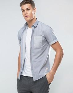 Рубашка с короткими рукавами и контрастным карманом Lindbergh - Синий