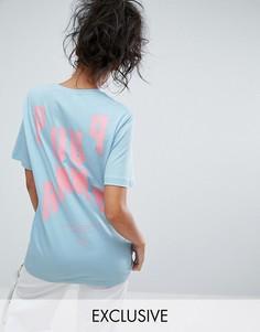 Oversize-футболка с короткими рукавами Puma эксклюзивно для ASOS - Синий