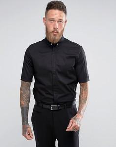 Зауженная эластичная рубашка в строгом стиле с короткими рукавами Religion - Черный