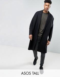 Легкая трикотажная oversize-куртка удлиненного кроя ASOS TALL - Черный