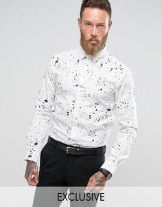 Строгая рубашка скинни с принтом Noose & Monkey - Белый