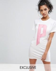 Белое платье-футболка Puma эксклюзивно для ASOS - Белый
