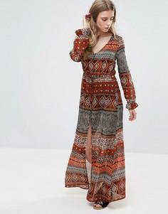 Платье макси Brave Soul Sophie - Оранжевый