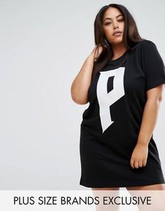 Черное платье-футболка Puma Plus эксклюзивно для ASOS - Белый