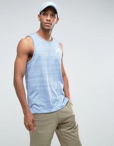 Синяя трикотажная майка Nike Advanced 882153-450 - Синий