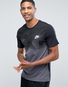 Черная футболка с принтом колор блок Nike 847657-010 - Черный