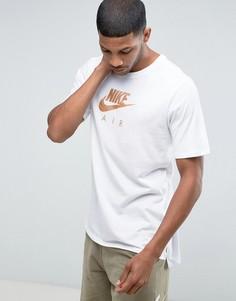 Белая футболка Nike Air Heritage Virus Ink 847521-100 - Белый